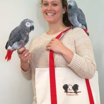 Tote with birds